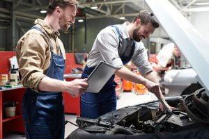 Check engine light on repair